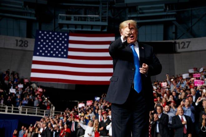 President Donald Trump in Charlotte