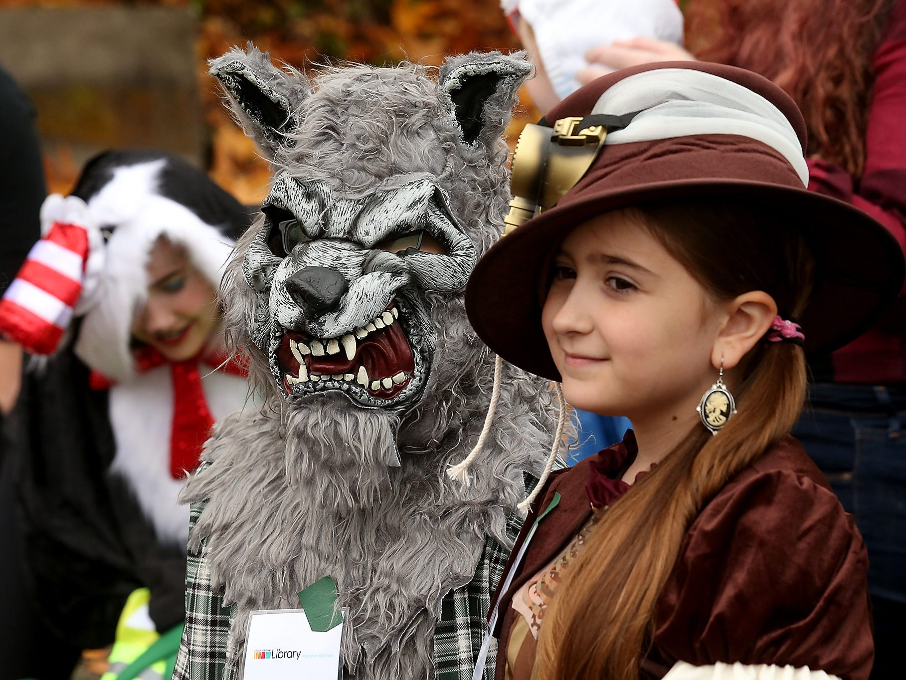 Siblings James and Alexis Rainbolt take part in the costume contest during the Halloween Spookfest in downtown Port Orchard on Saturday, October 27, 2018.