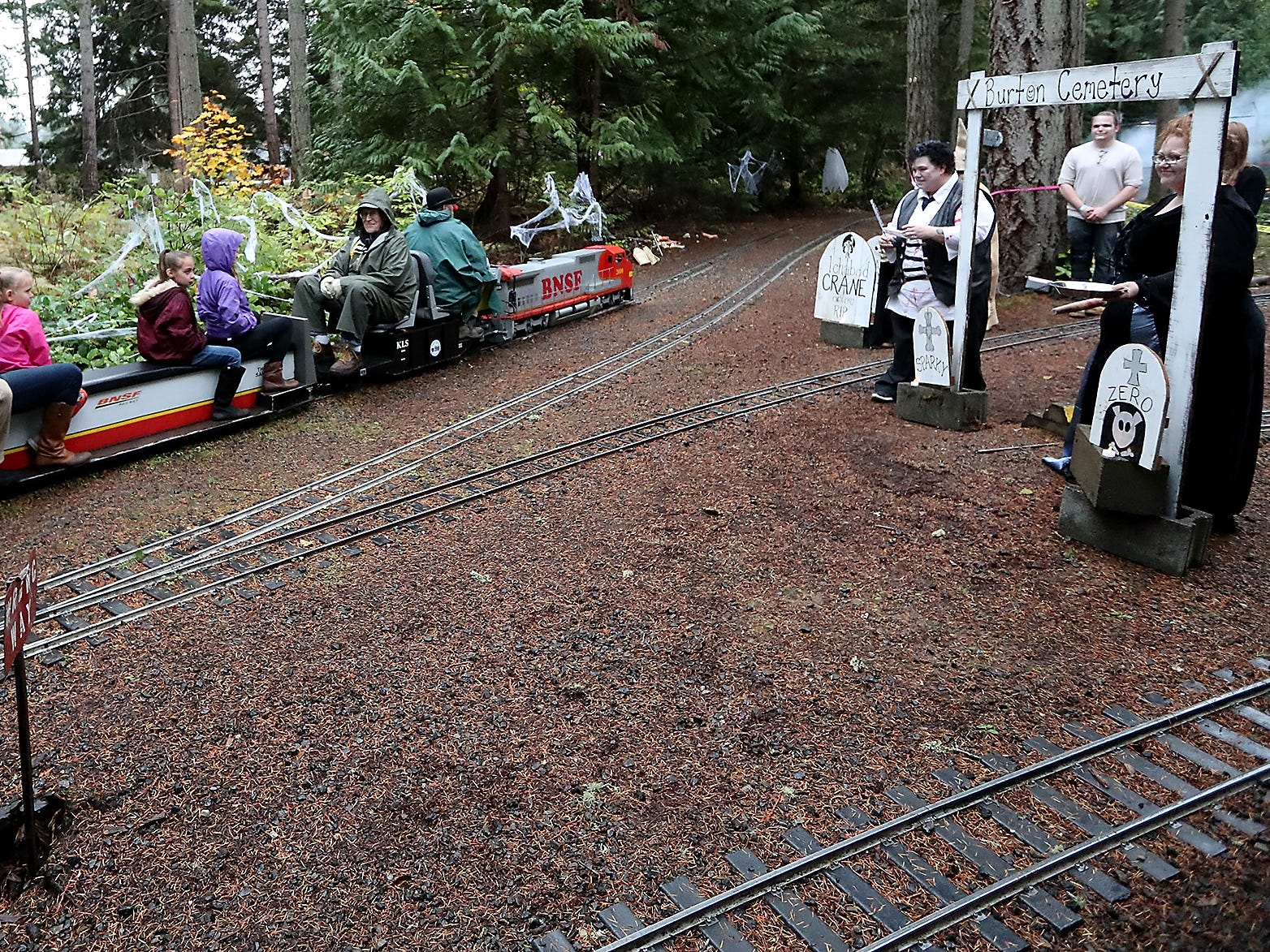 Kitsap Live Steamers Ghost Train on Saturday, October 27, 2018.