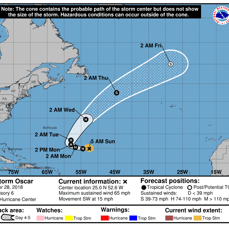 Tropical Storm Oscar expected to become a hurricane