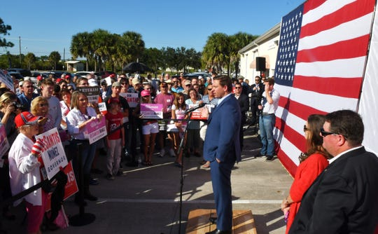Ron DeSantis, candidate for Governor of Florida, visited the Republican Part of Brevard office for a rally on Sunday.