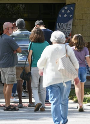 Brevardians head to the polls at Viera Regional Park on Oct. 27, the first day of early voting in the county.