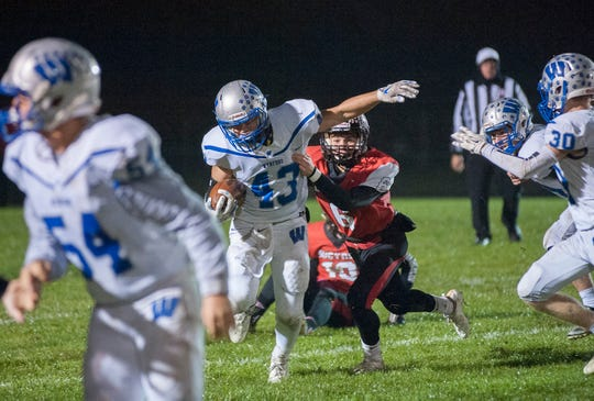 Sophomore Kendall Blair has a year under his belt as a Wynford running back.