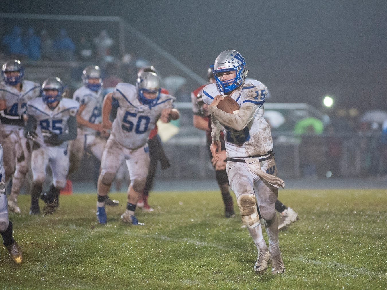 Wynford's Dustin Brady rushes the ball.