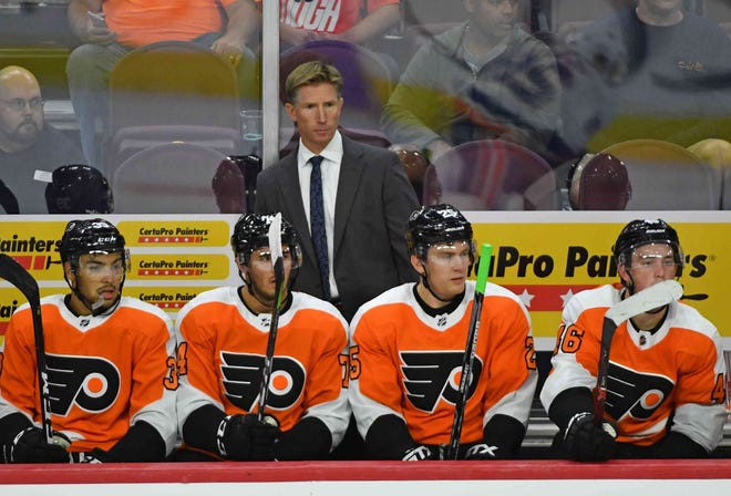 Coach Dave Hakstol and the Flyers have a lot to figure out as they embark on a four-game road trip out West.