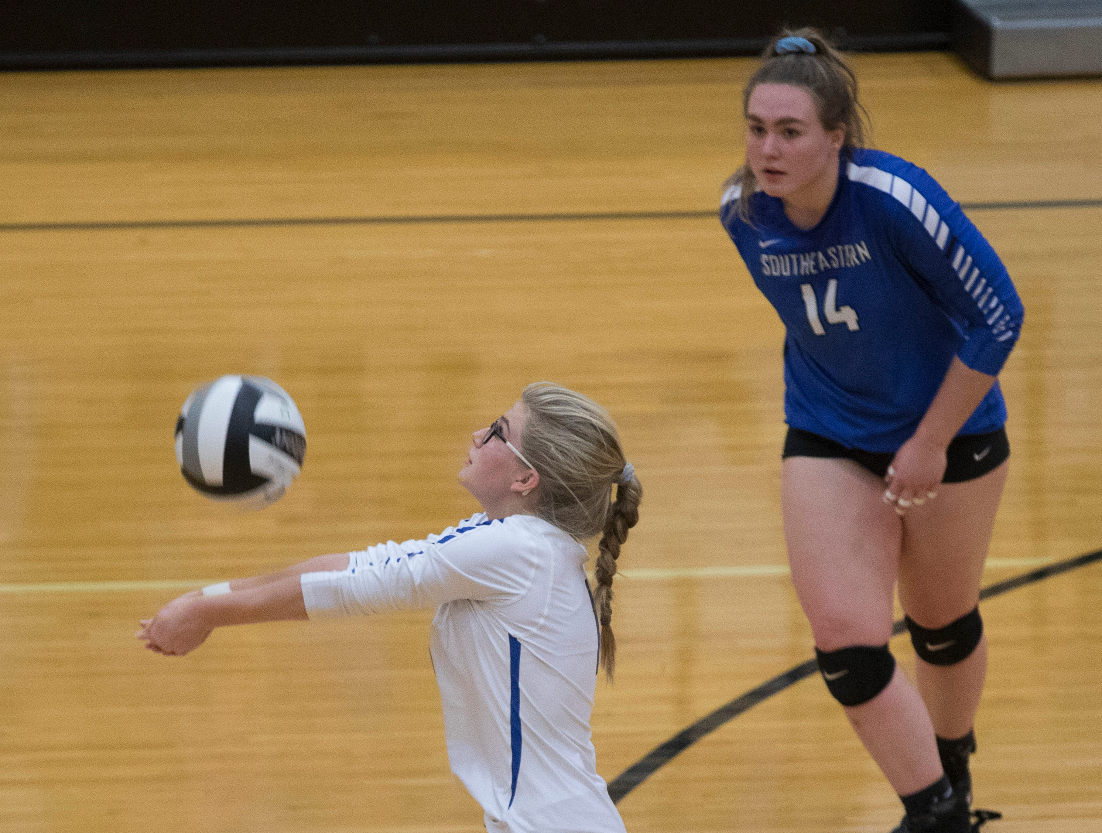 Southeastern defeated Zane Trace Saturday afternoon 3-0 in a Division III volleyball district finals game in Waverly, Ohio. The Panthers will go on to play Berlin Highland on Thursday, November 1, 2018, in Logan, Ohio.