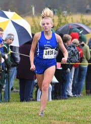 Caileigh Waters of Walton-Verona won the Class 1A Girls KHSAA Regional Cross Country Championship, Sherman Elementary School, Grant County, KY, Saturday Oct. 27, 2018
