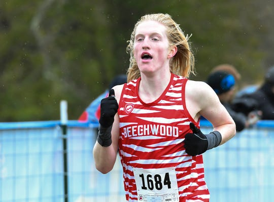 Keaton Downey of Beechwood won Boys Class 1A in the KHSAA Regional Cross Country Championship, Sherman Elementary School, Grant County, KY, Saturday Oct. 27, 2018