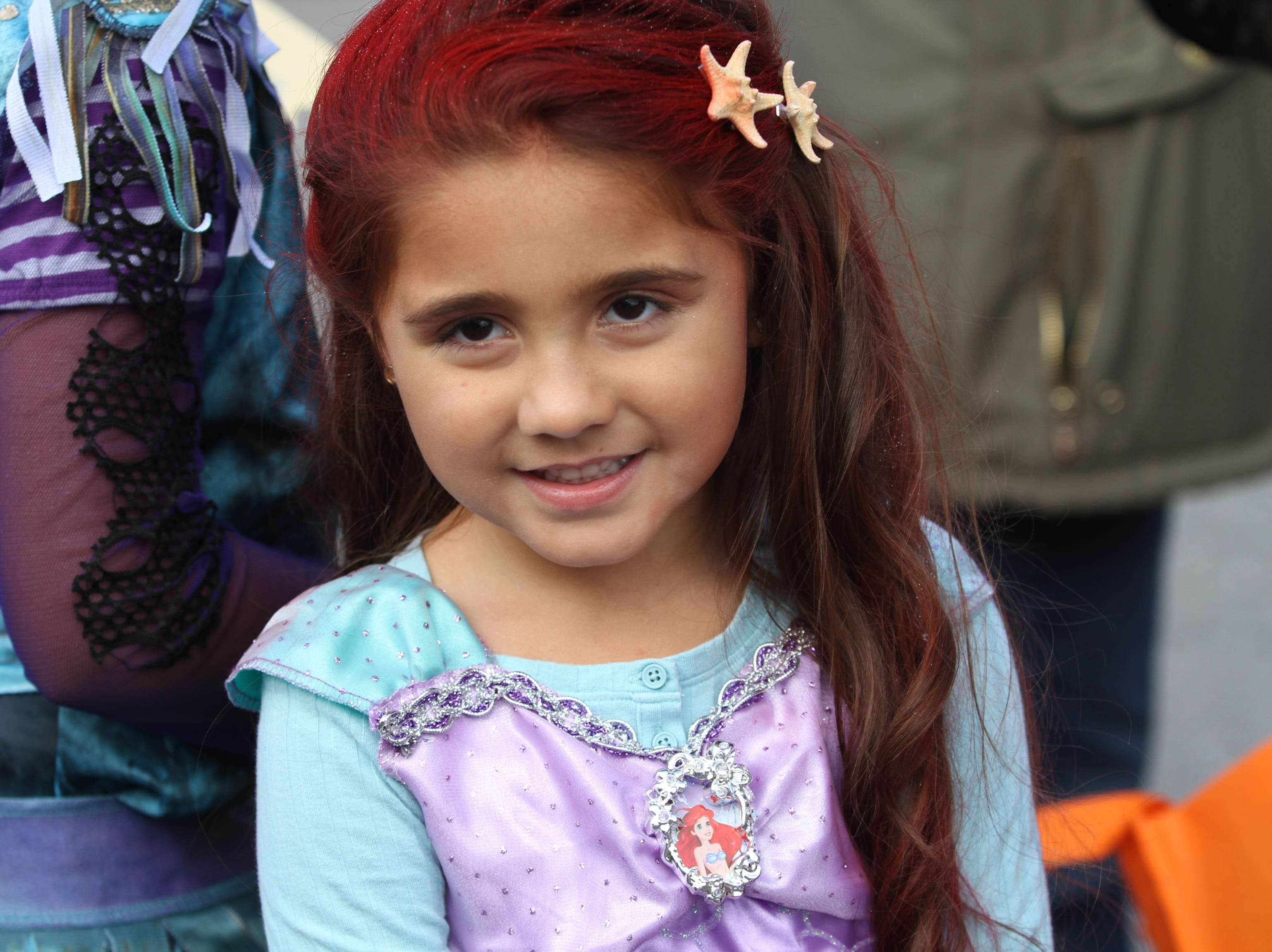 Alena Herrera downtown Saturday, October 27, 2018 for Clarksville's annual Fright on Franklin.