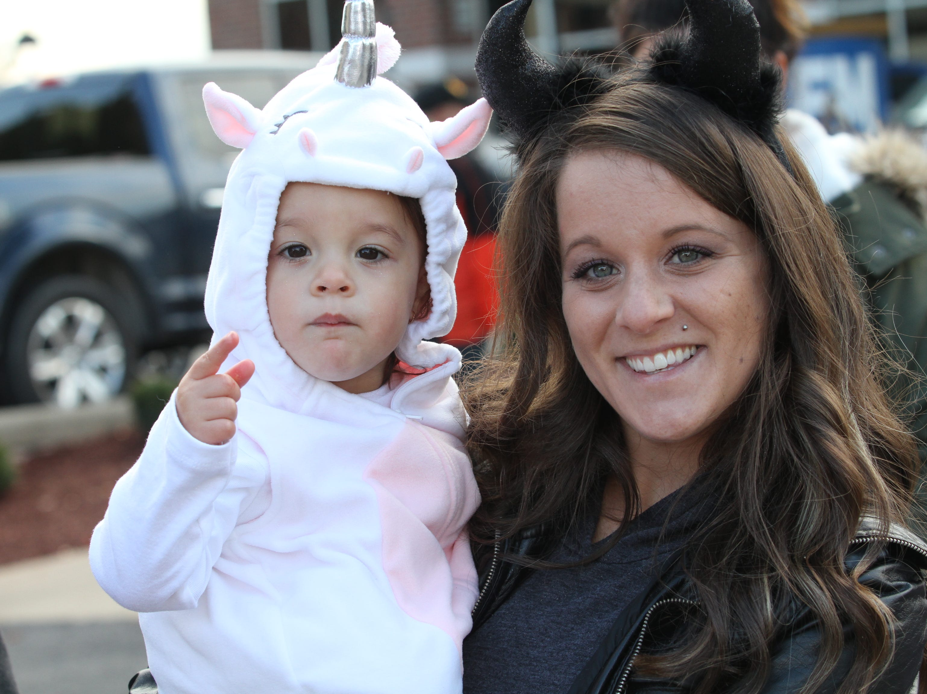 Makaylah Ramos and Andrea Windover  downtown Saturday, October 27, 2018 for Clarksville's annual Fright on Franklin.