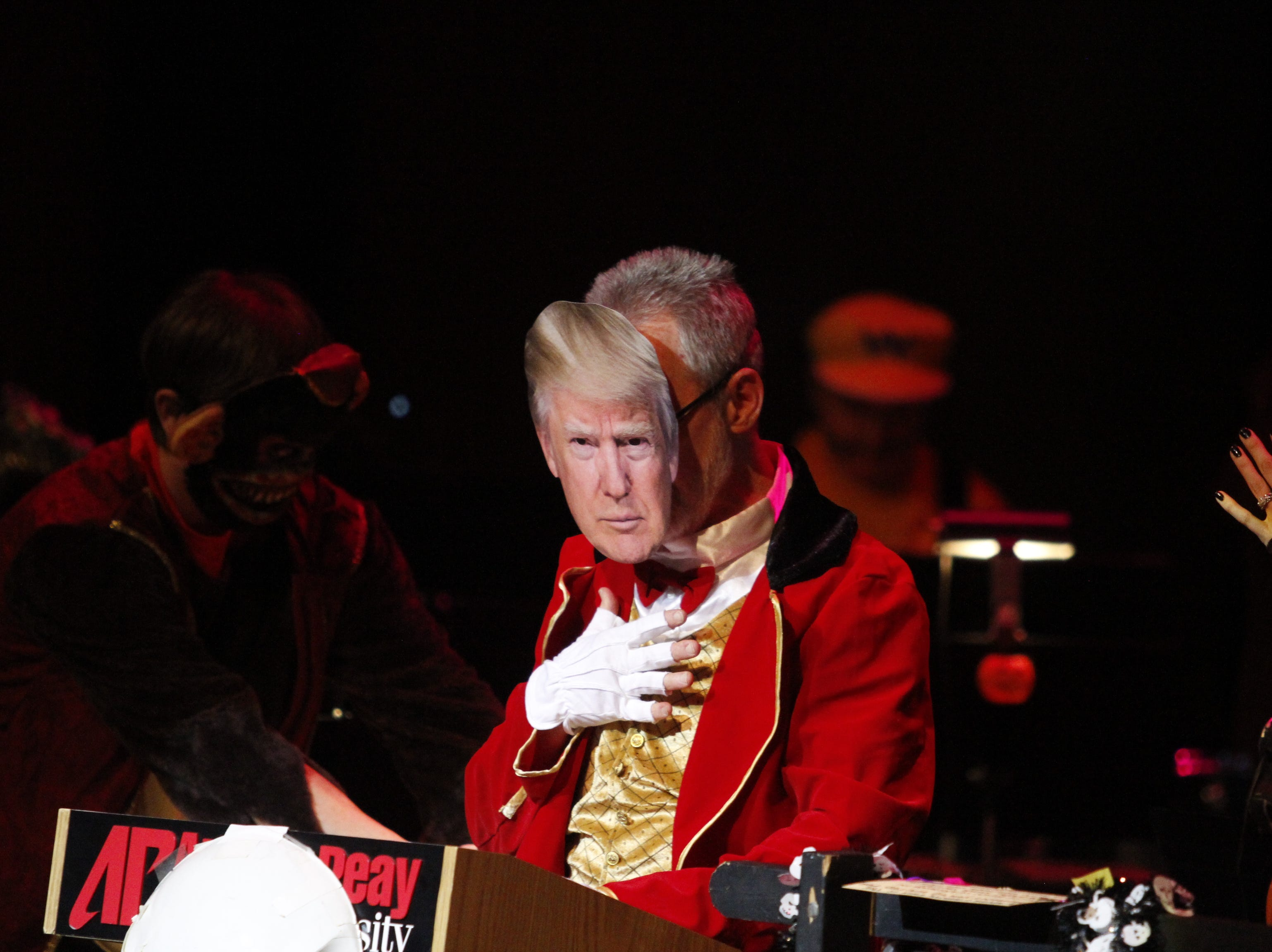 Donald Trump (David Steinquest) was one of many special guests at this year's APSU Percussion Ensemble Halloween Concert on Friday, October 26, 2018.