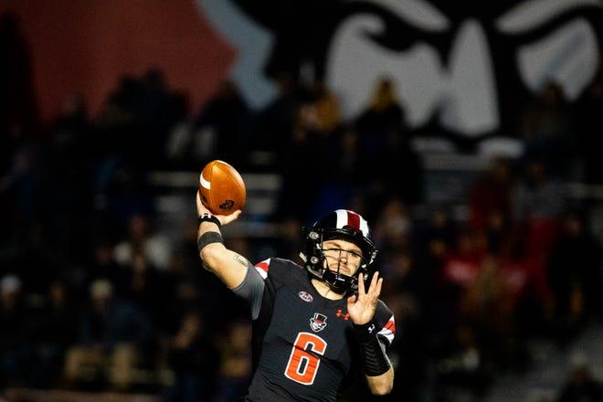 Austin Peay quarterback Jeremiah Oatsvall has thrown for 16 touchdowns this season.