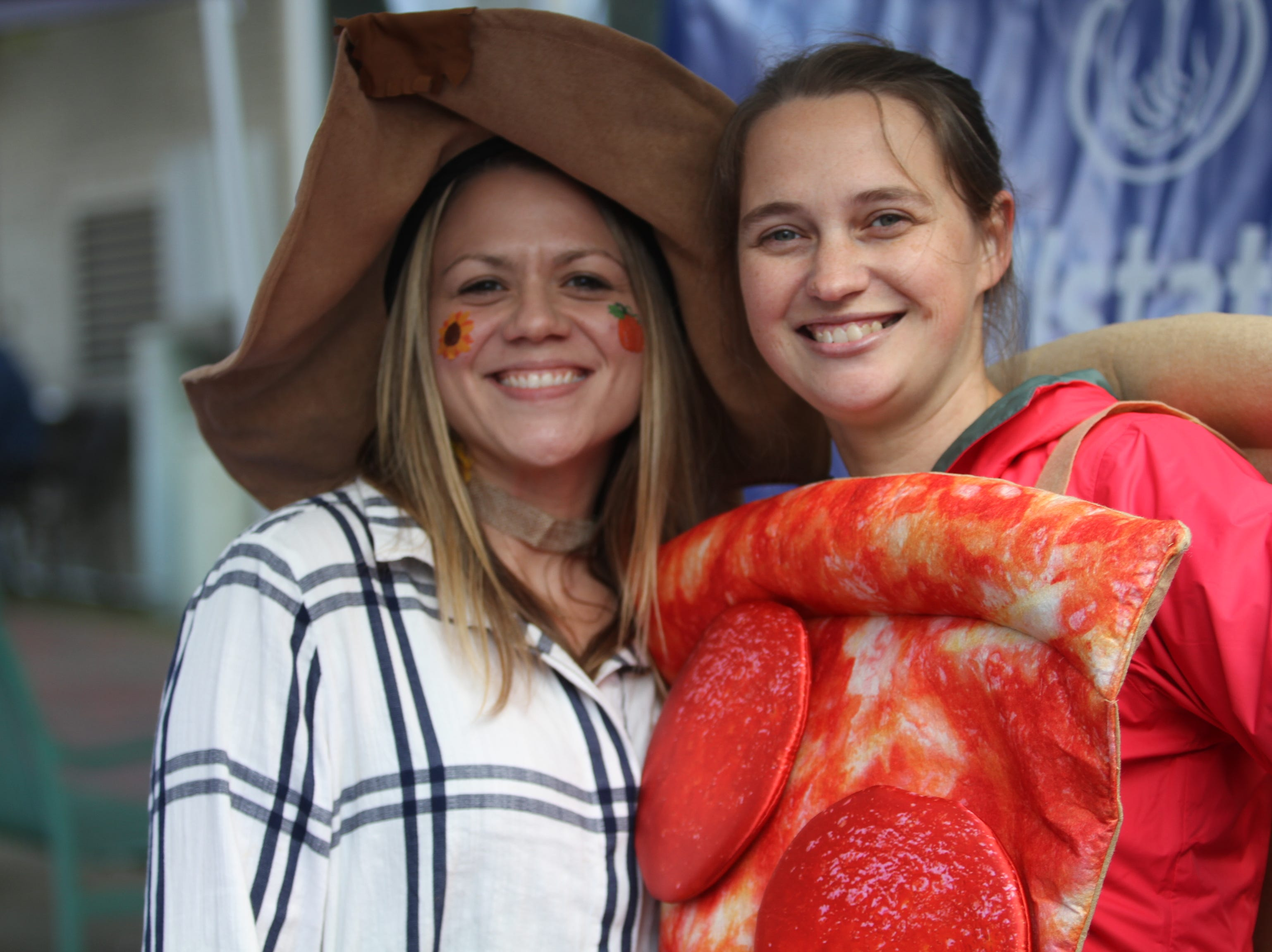 Alexis Goines and Jami Joynor  downtown Saturday, October 27, 2018 for Clarksville's annual Fright on Franklin.