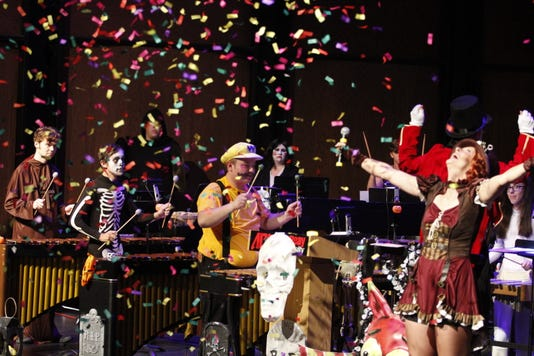 Hundreds Came Out To Enjoy Two Performances Of Apsus 2018 Percussion Ensemble Halloween Concert 12
