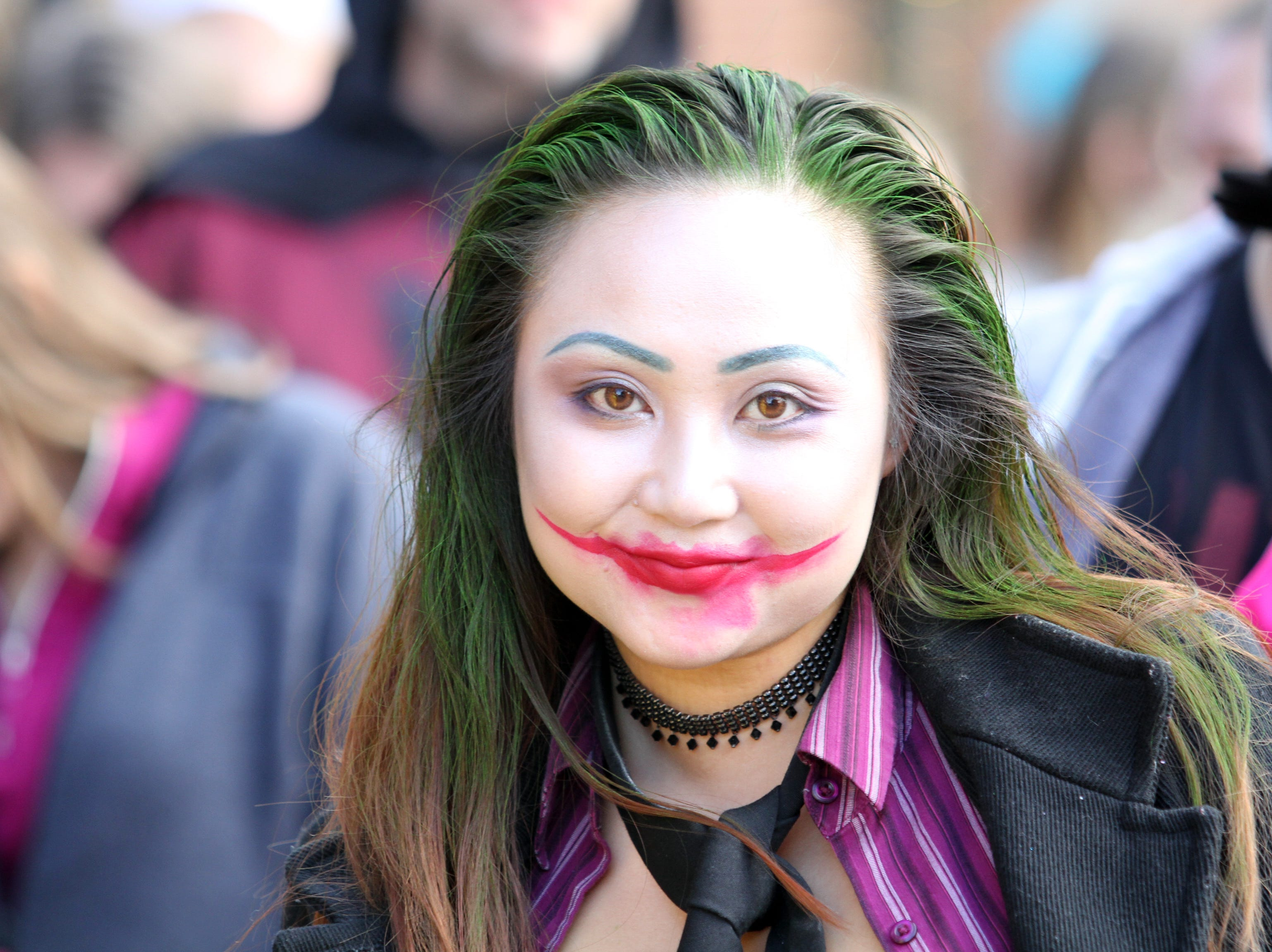 Victoria Clark Was The Joker on Saturday, October 27, 2018 for Clarksville's annual Fright on Franklin.