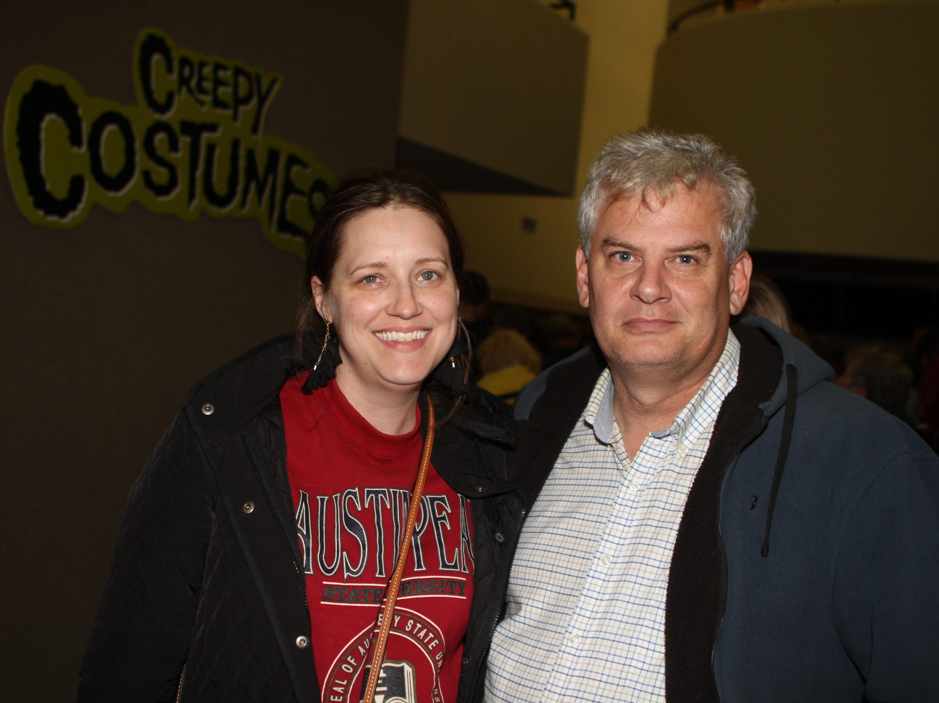 Heather and David Smith at this year's APSU Percussion Ensemble Halloween Concert on Friday, October 26, 2018.