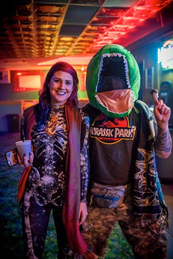 Megan Larimer, 27, and Joel Zelle, 24, both of Des Moines, having a great time, Saturday, Oct. 27, 2018, at 515 Alive Presents: Freak Out, hosted by Val Air Ballroom.
