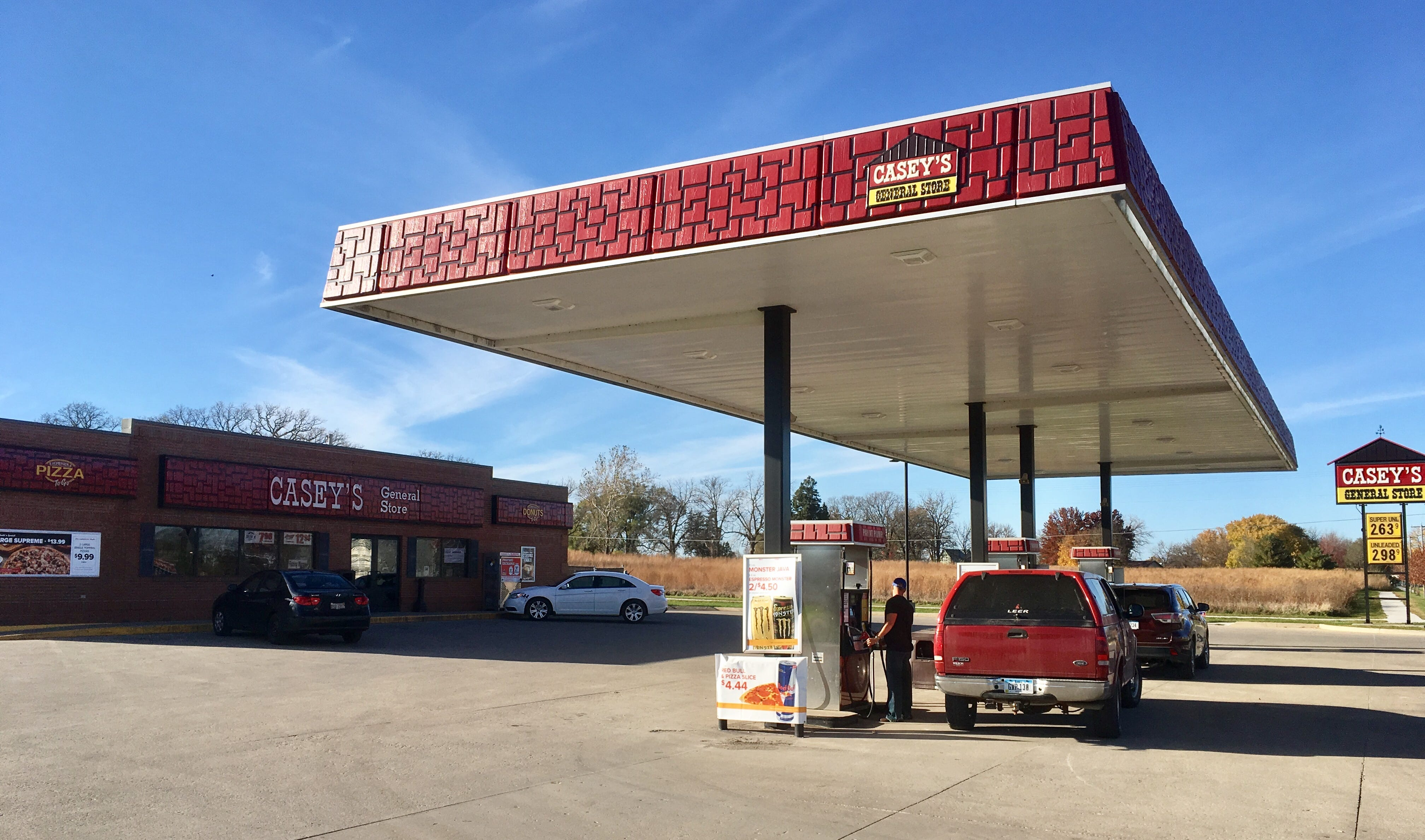 The Casey's convenience store in Redfield, Iowa, where one of the winning tickets was sold.