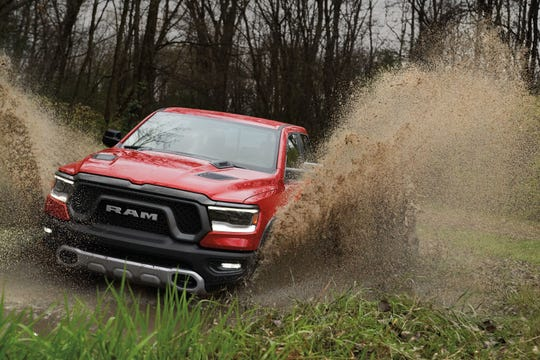 2019 Ram 1500 Rebel mud pack test at Chelsea Proving Grounds in Chelsea, Mich.