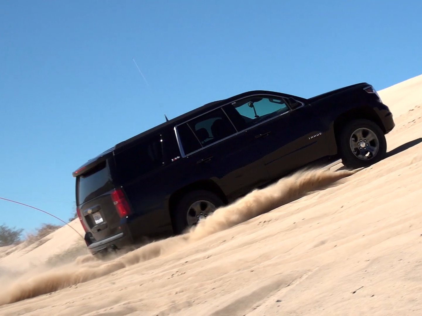 The Chevrolet Tahoe undergoes testing in January 2016 at the GM Desert Proving Ground-Yuma in Yuma, Arizona.
