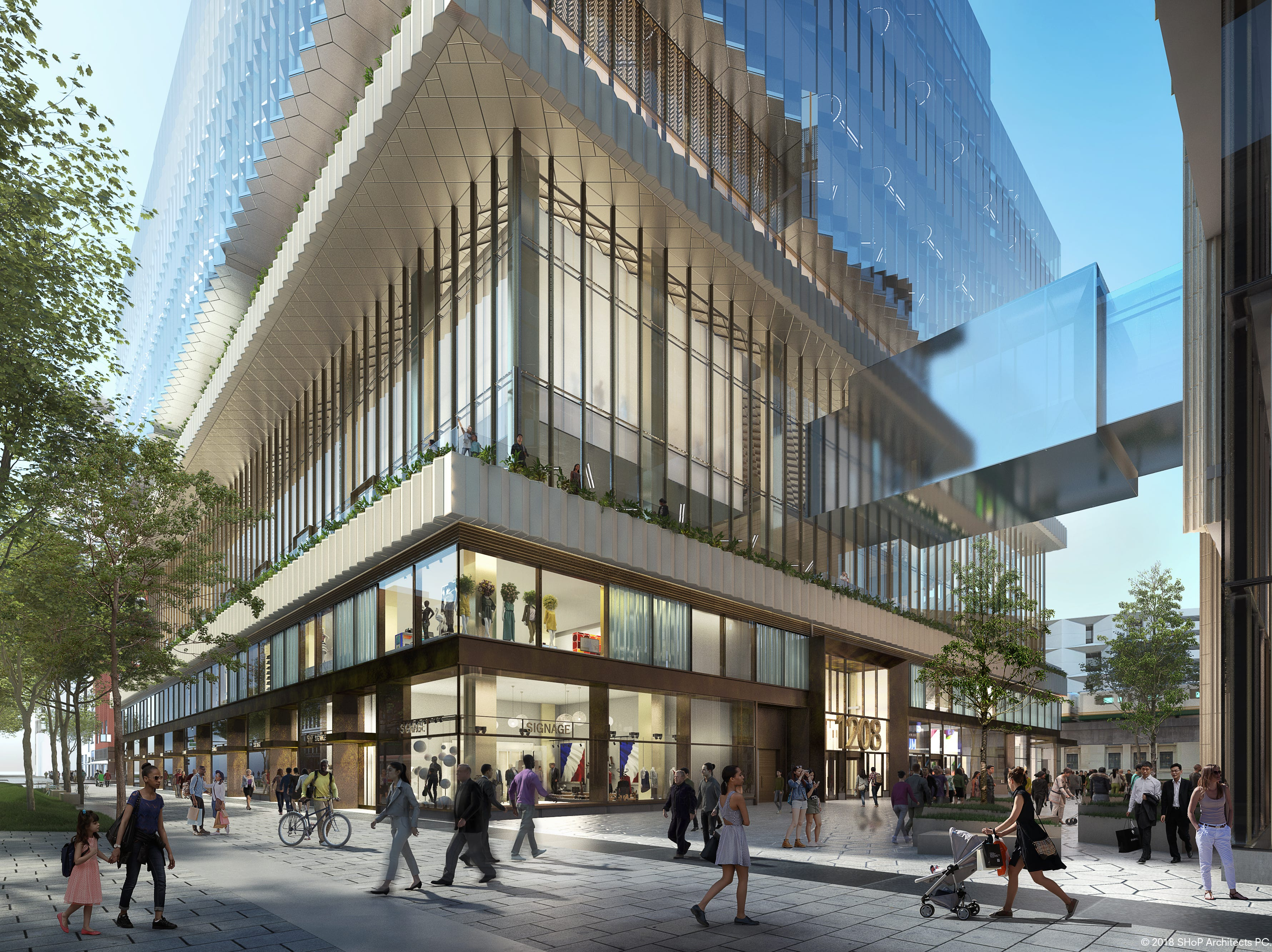 New renderings depicting the Hudson's Site in downtown Detroit.