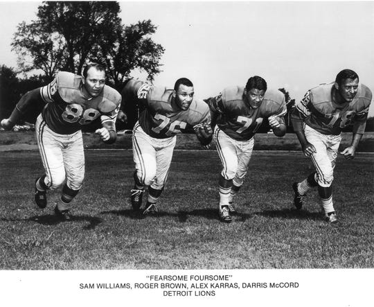 Detroit Lions' Fearsome Foursome, from left: Sam Williams, Roger Brown, Alex Karras, Darris McCord.