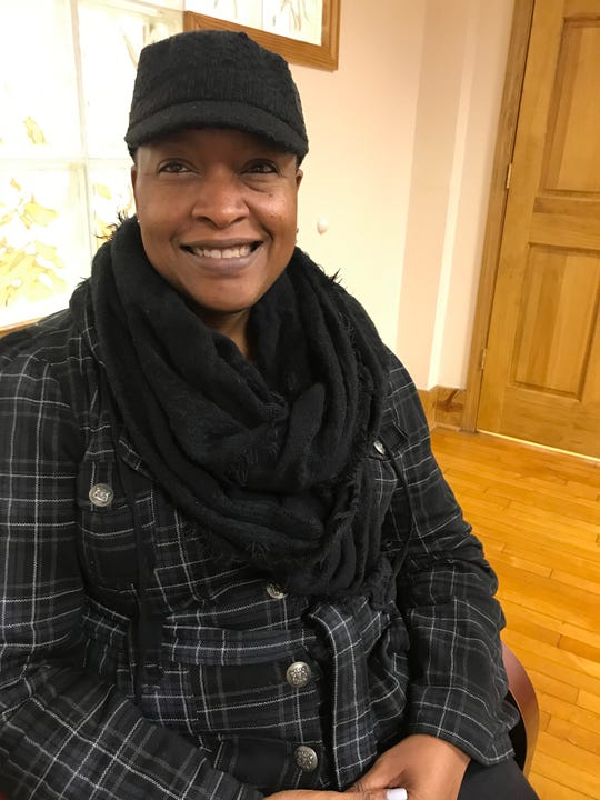 Cheryl White, a Color of Change PAC volunteer, who spent Sunday, Oct. 28, 2018 canvassing on Detroit's west side to get voters to come on on Nov. 6 for the midterm elections.
