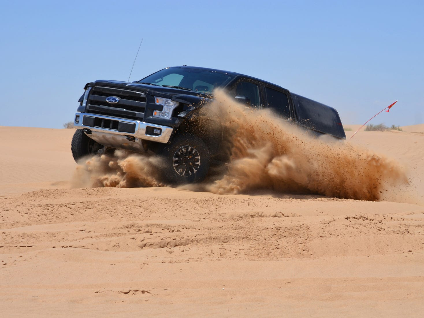 2017 F-150 Raptor prototype undergoing durability testing in southern California.