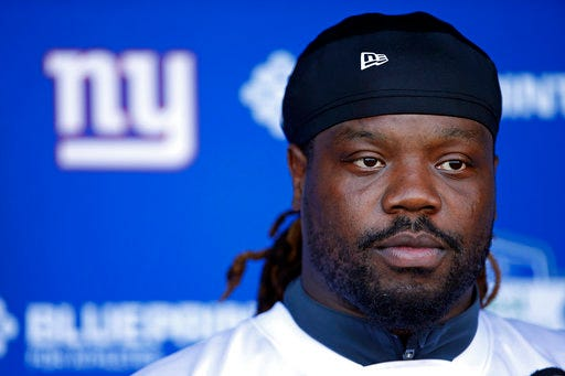 Recently acquired defensive tackle Damon Harrison is active for his first game with the Detroit Lions.