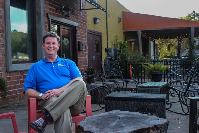Mayoral candidate John Dailey sat down outside Lucky Goat Coffee to discuss his views on local politics.