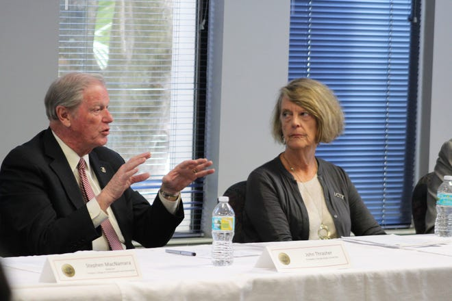 President John Thrasher discussed his experiences in politics and higher education.