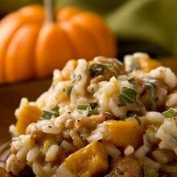 A pumpkin risotto recipe perfect for autumn.