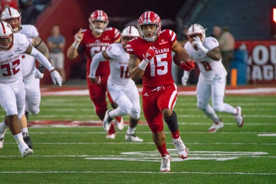 The explosiveness of UL running backs, like Elijah Mitchell above, can make running the clock a difficult proposition at times.