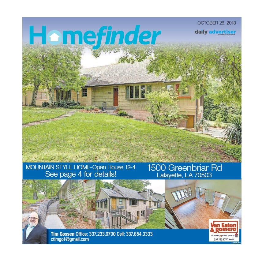 Homefinder: Oct. 28, 2018