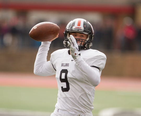 Brighton senior Colby Newburg hasn't started at quarterback at the varsity level, but played in the fourth quarter of a 31-28 playoff loss at East Kentwood last season.