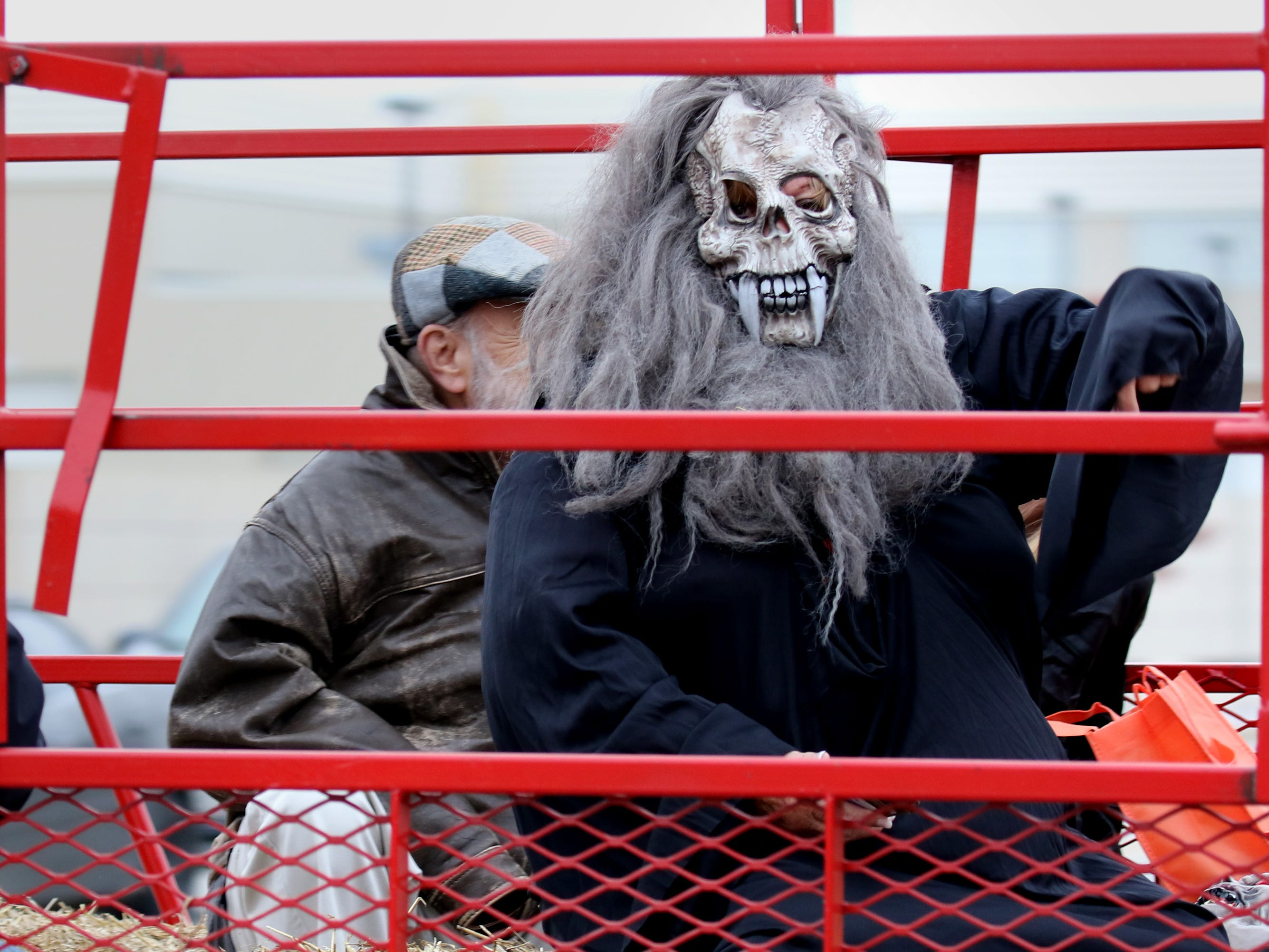 A ghoul led a hayride that rolled along Milwaukee Avenue during the South Milwaukee Downtown Trick or Treating on Oct. 27.