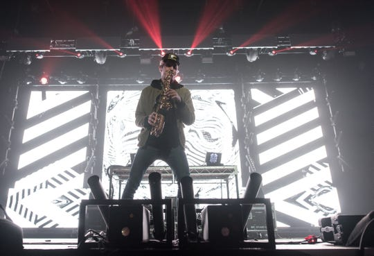 Griz performs at the Wisconsin Center for Jawbreaker Festival's first night Saturday on Oct. 27, 2018.