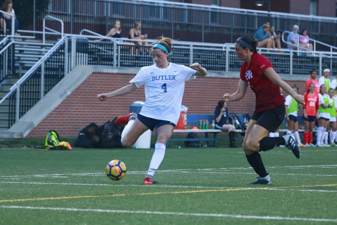 Butler midfielder Paige Monaghan, a Roxbury graduate, was recently named to the Big East first team.