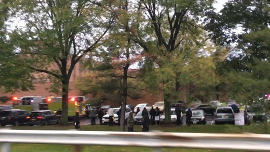 About 3,000 people were evacuated from the Chiller Theatre Festival at the Hilton Parsippany due to reports of a gas leak and a bomb threat. Oct. 27, 2018.