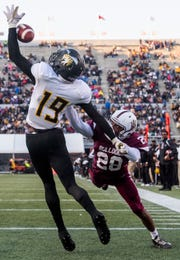 Alabama A&M cornerback Joshua M. Williams (28) breaks up a pass intended or Alabama State University wide receiver Michael Jefferson (19) at Legion Field in Birmingham, Ala., during the Magic City Classic on Saturday October 27, 2018.