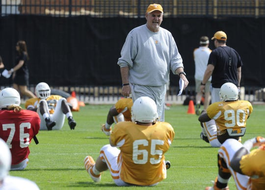 Former MTSU and UT defensive line coach John Palermo during a practice at UT.