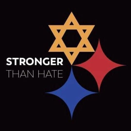 A symbol popping up on social media to show solidarity with the Oct. 27 synagogue massacre in Pittsburgh.
