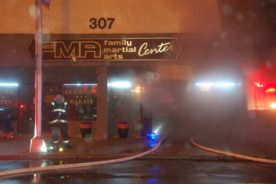 A fire on Main Street in Hackensack was under control in about 30 minutes on Saturday, Oct. 27, 2018.