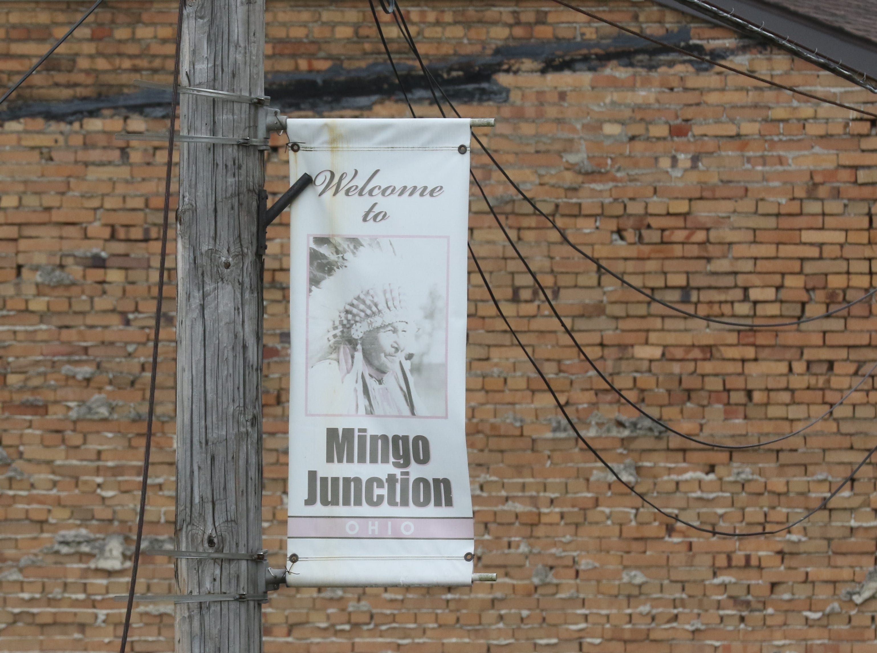 Faded signs and decaying structures line the streets of downtown Mingo Junction.