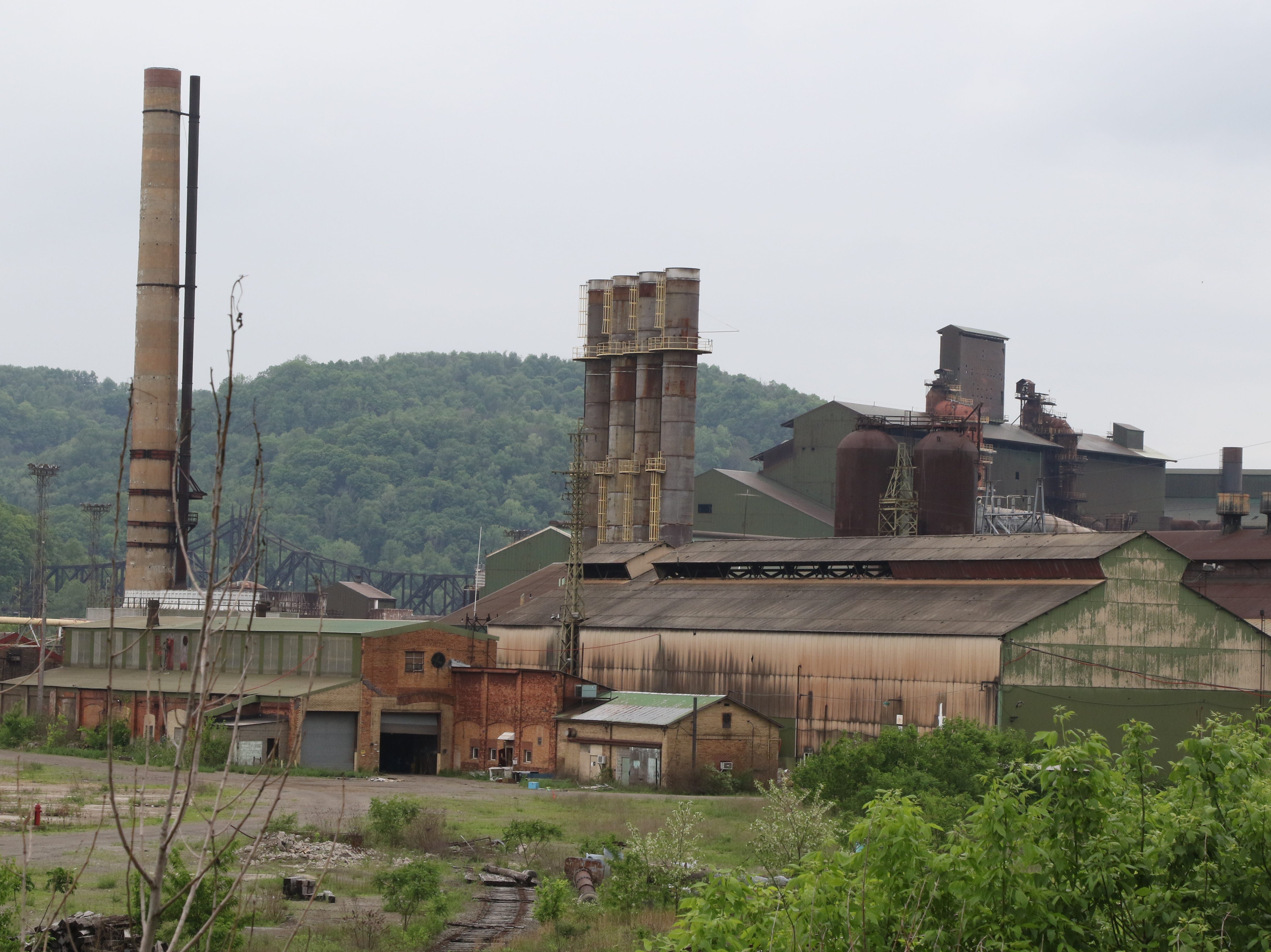 What is left of one of the remaining steel mills that is no longer in operation.