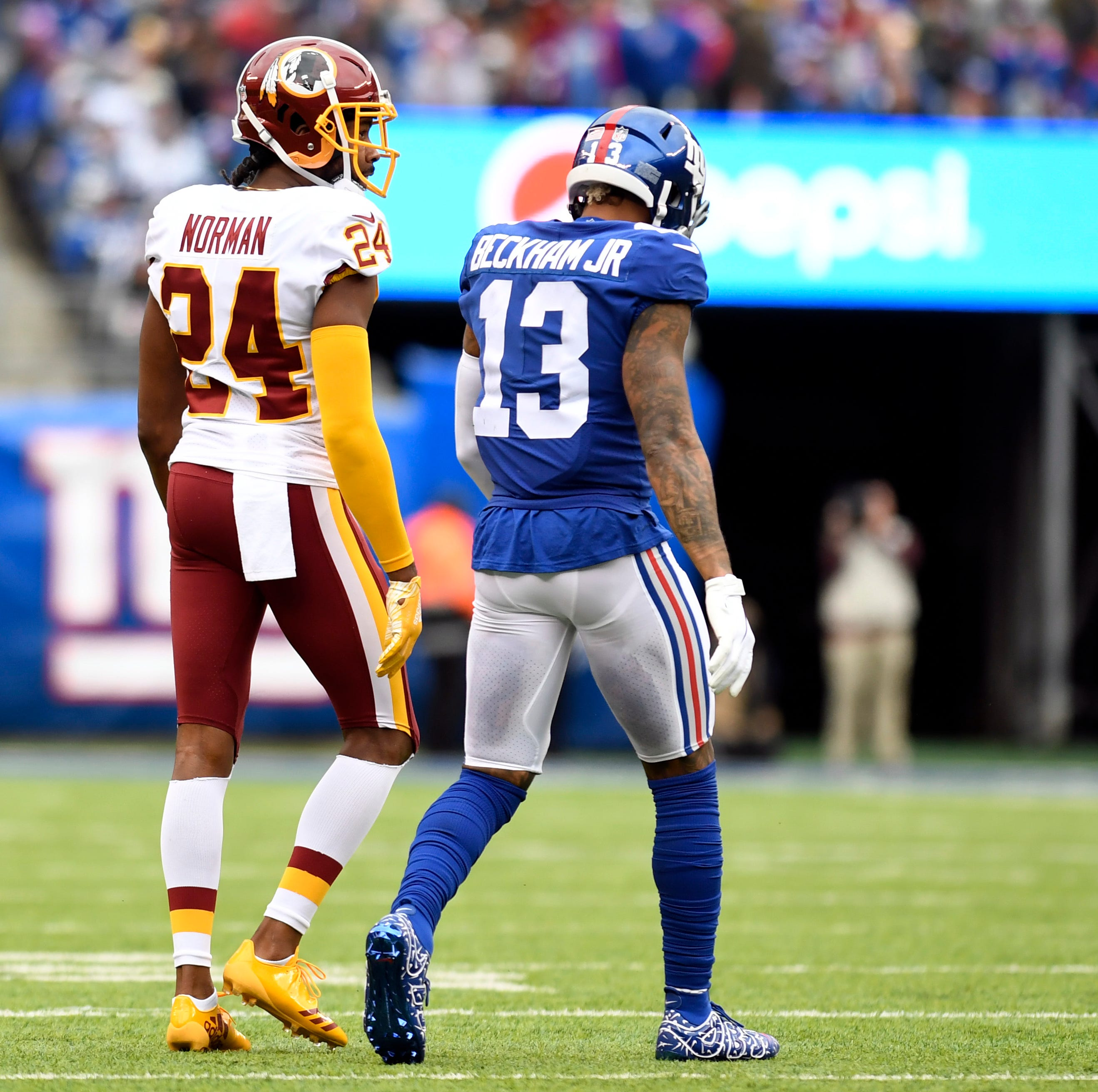 Giant surprise: Odell Beckham Jr. downgraded to out, will not play Sunday vs. Redskins