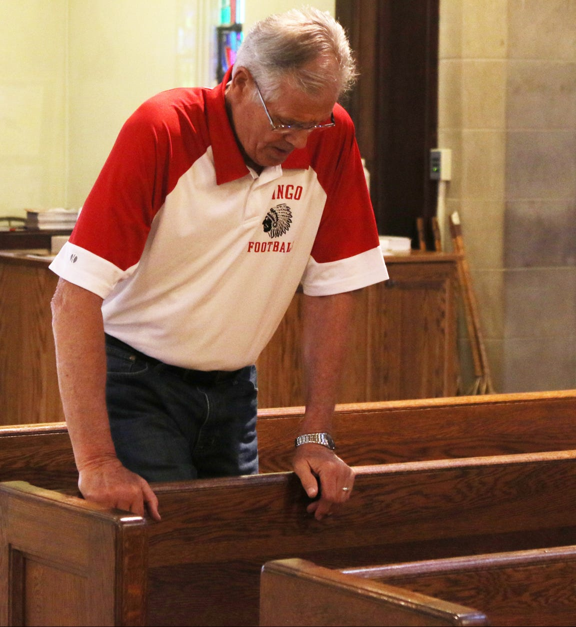 Michael Herrick begins most days by attending Mass at St. Agnes Church.