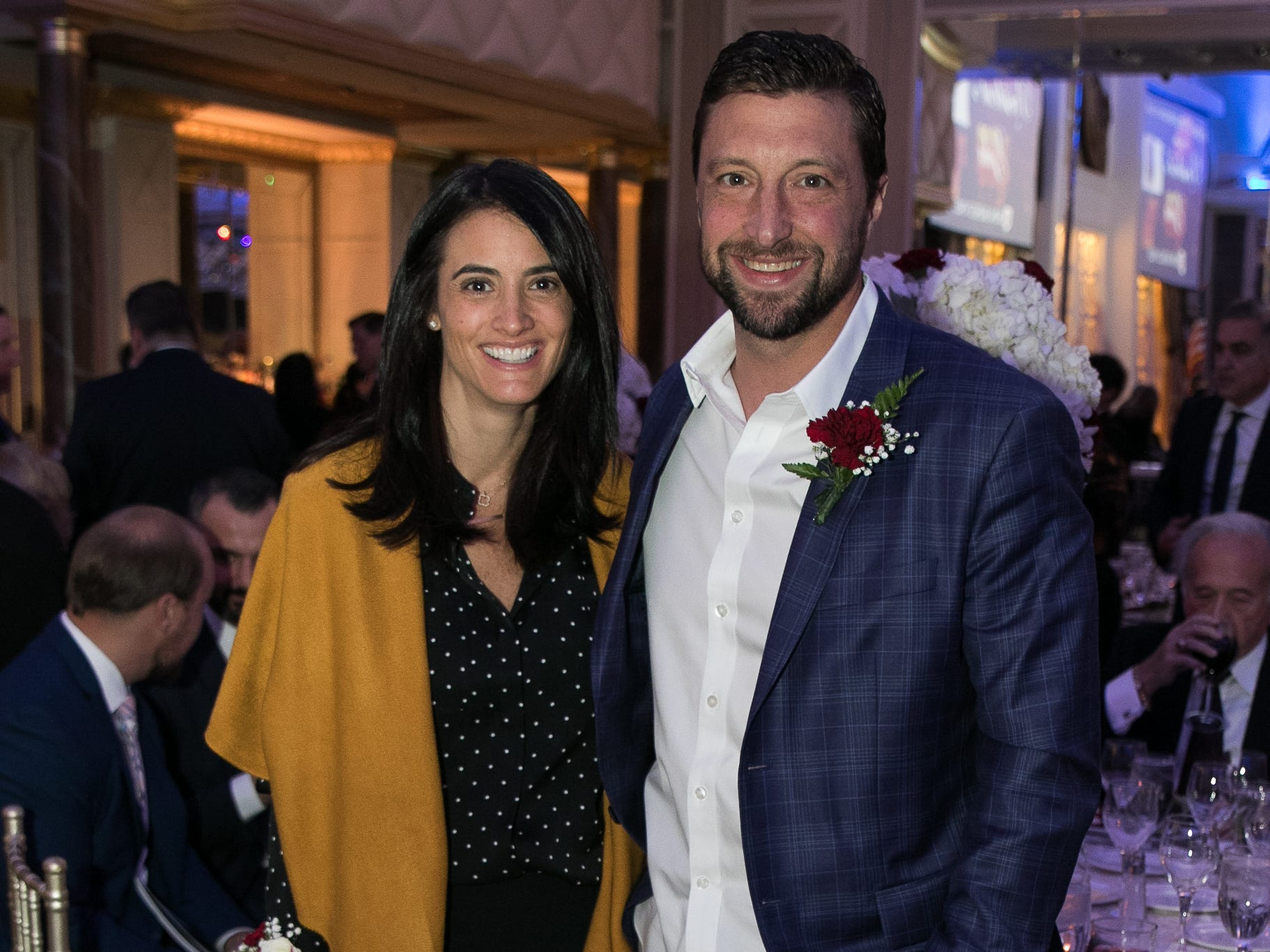 Honoree Don Van Natta and his wife. Don Bosco Prep held it's 17th Annual President's Gala at The Venitian in Garfield, NJ. 10/25/2018