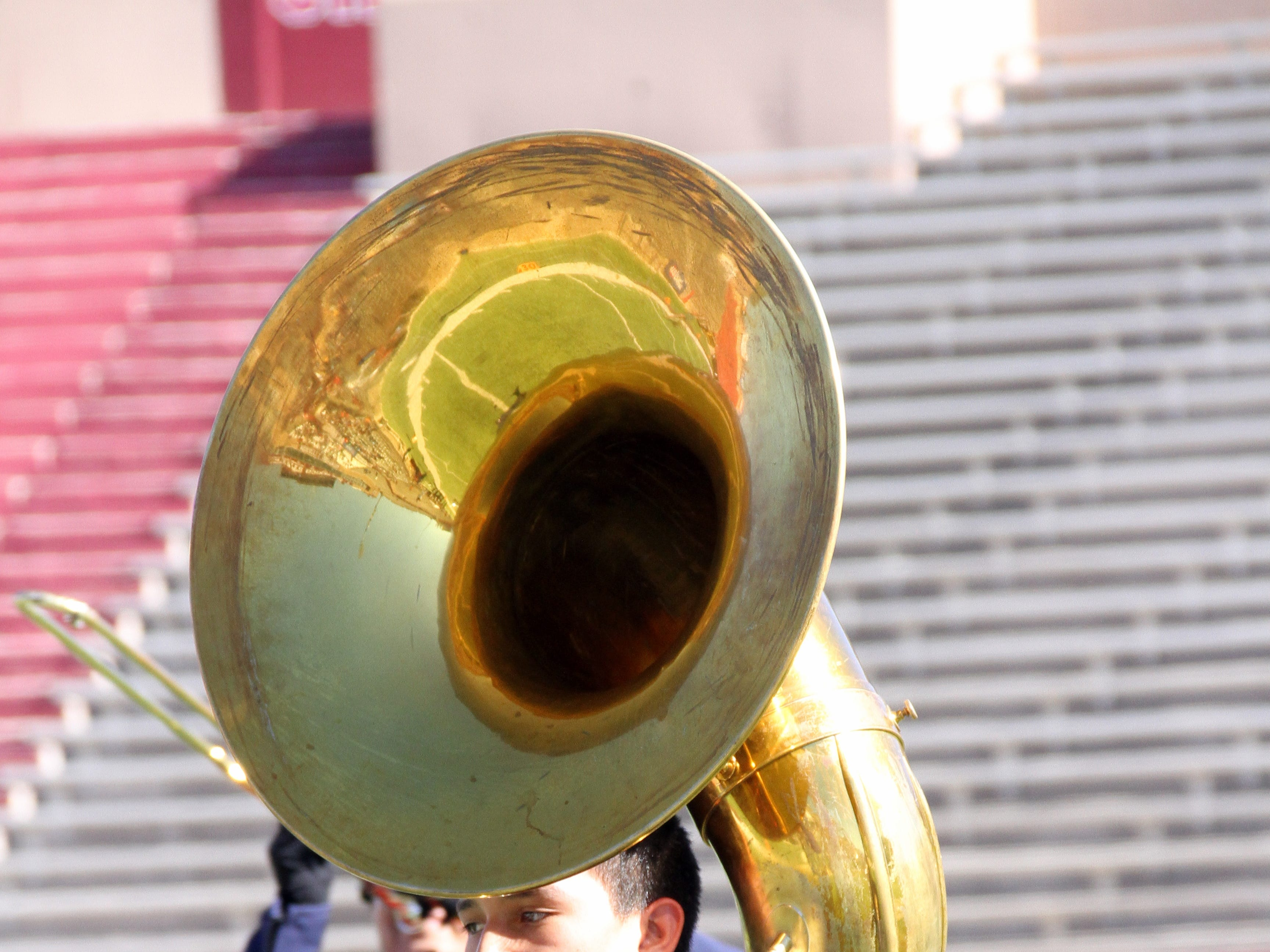 Try marching with this instrument and making it sound sweet.