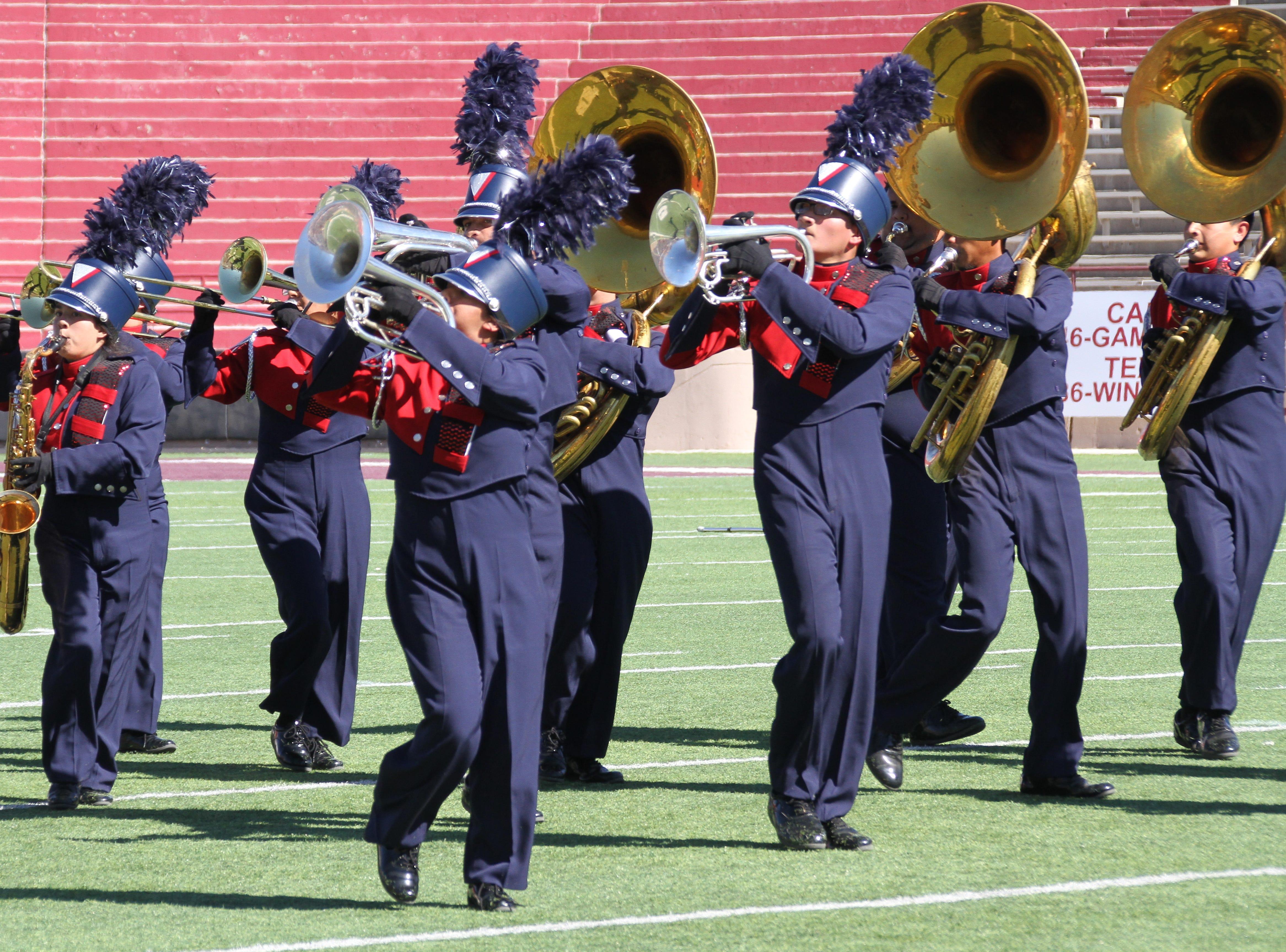 Horns a-plenty at Aggie Memorial Stadium.